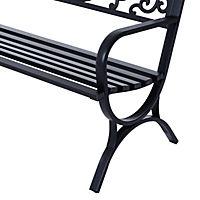 Sitzbank für 2 Personen (Farbe: schwarz, Größe: 127 x 60 x 85 cm (LxBxH)) - Produktdetailbild 6