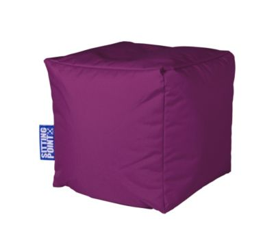 sitzw rfel cube scuba farbe aubergine bestellen. Black Bedroom Furniture Sets. Home Design Ideas