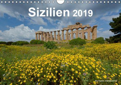 Sizilien 2019 (Wandkalender 2019 DIN A4 quer), Jörg Dauerer