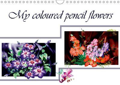 Sketches of flowers (Wall Calendar 2019 DIN A4 Landscape), Dusanka Djeric
