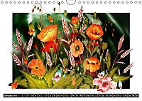Sketches of flowers (Wall Calendar 2019 DIN A4 Landscape) - Produktdetailbild 1