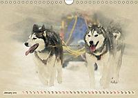 Sledgedogs 2019 / UK-Version (Wall Calendar 2019 DIN A4 Landscape) - Produktdetailbild 1
