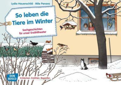 So leben die Tiere im Winter. Kamishibai Bildkartenset - Lydia Hauenschild |
