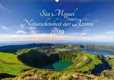 São Miguel - Naturschönheit der Azoren (Wandkalender 2019 DIN A2 quer), Janita Webeler