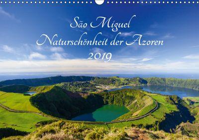 São Miguel - Naturschönheit der Azoren (Wandkalender 2019 DIN A3 quer), Janita Webeler