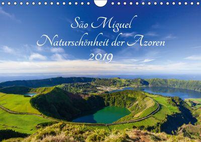 São Miguel - Naturschönheit der Azoren (Wandkalender 2019 DIN A4 quer), Janita Webeler