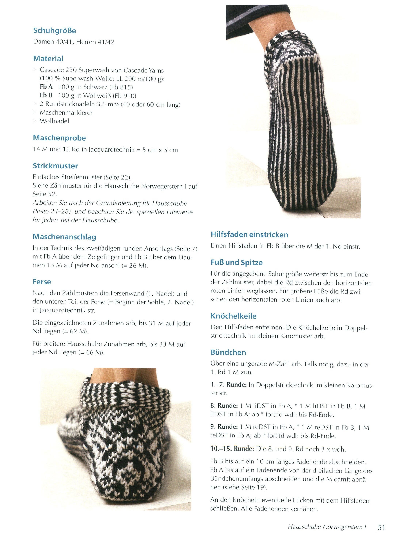Socken Hausschuhe Stricken Im Skandinavischen Design