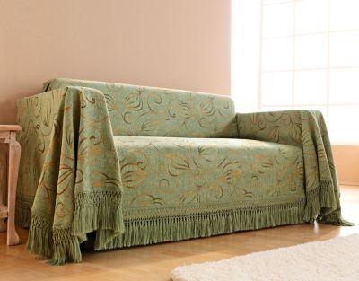 sofa berwurf fioccino 155 x 190 cm farbe gr n. Black Bedroom Furniture Sets. Home Design Ideas