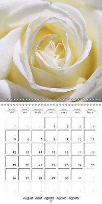 Soft White Flowers (Wall Calendar 2019 300 × 300 mm Square) - Produktdetailbild 8