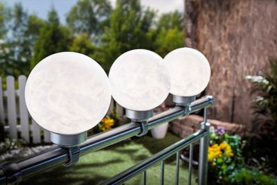 Solar-Balkonbeleuchtung, 2er-Set