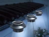Solar-Dachrinnen-Leuchten Edelstahl, 3er Set - Produktdetailbild 1