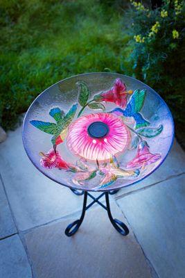 Solar-Dekoschale Blütenzauber