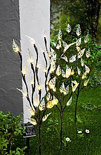 """Solar-Gartenstecker """"Blätter"""", 3er-Set - Produktdetailbild 1"""