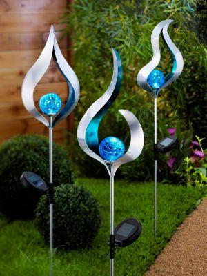Solar-Gartenstecker Blue, 3er-Set