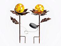 Solar-Gartenstecker Blume 2er-Set - Produktdetailbild 2