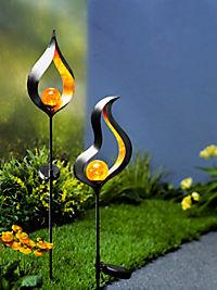 "Solar-Gartenstecker ""Candela"", 2er-Set - Produktdetailbild 1"