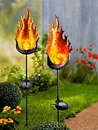 """Solar-Gartenstecker """"Fire"""", 2er-Set - Produktdetailbild 1"""