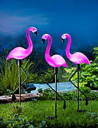 """Solar-Gartenstecker """"Flamingo"""", 3er-Set - Produktdetailbild 1"""