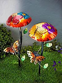 """Solar-Gartenstecker, """"Mariposa"""", 2er-Set - Produktdetailbild 1"""