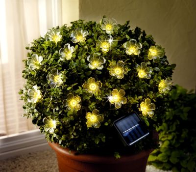 Solar-Lichterkette Blume
