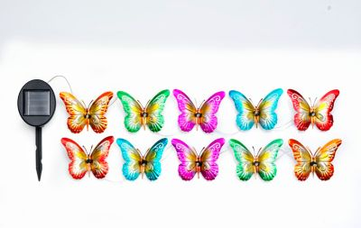 Solar-Lichterkette Schmetterlinge