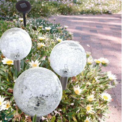 Solarleuchte mit 3 Glaskugeln