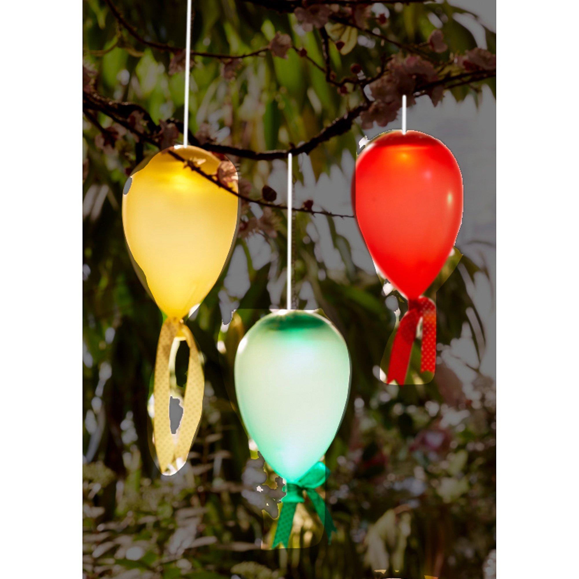Solarleuchten Set 3 Tlg Luftballons Hängend Weltbildde