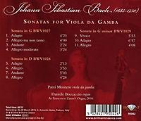 Sonatas For Viola Da Gamba And Organ - Produktdetailbild 1