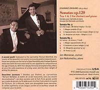 Sonatas Op.120 Clarinet & Piano - Produktdetailbild 1