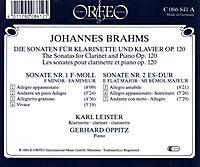 Sonaten F.Klarin.U.Klav.Op.120:1 F-Moll/2 Es-Dur - Produktdetailbild 1