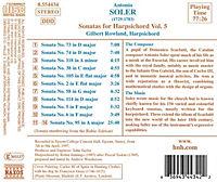 Sonaten für Cembalo Vol. 5 - Produktdetailbild 1