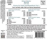 Sonaten für Violine und Cembalo Vol. 1 - Produktdetailbild 1
