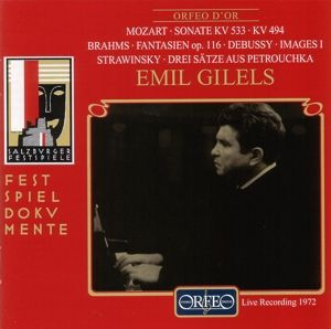 Sonaten Kv 533 & 494/Fantasien/Images/Petrouchka, Emil Gilels