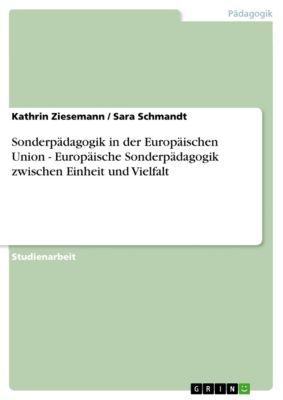 Sonderpädagogik in der Europäischen Union - Europäische Sonderpädagogik zwischen Einheit und Vielfalt, Kathrin Ziesemann, Sara Schmandt