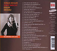 Sonja Kehler singt Brecht - Produktdetailbild 1