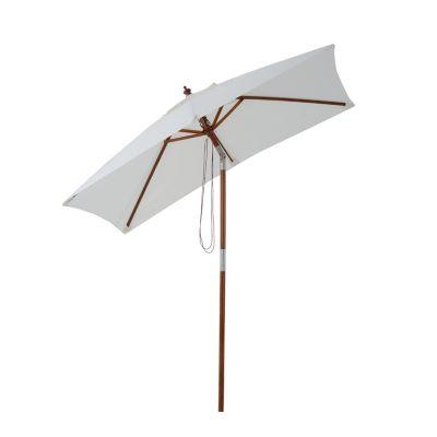 Sonnenschirm knickbar (Farbe: creme)