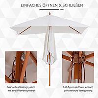Sonnenschirm knickbar (Farbe: creme) - Produktdetailbild 3