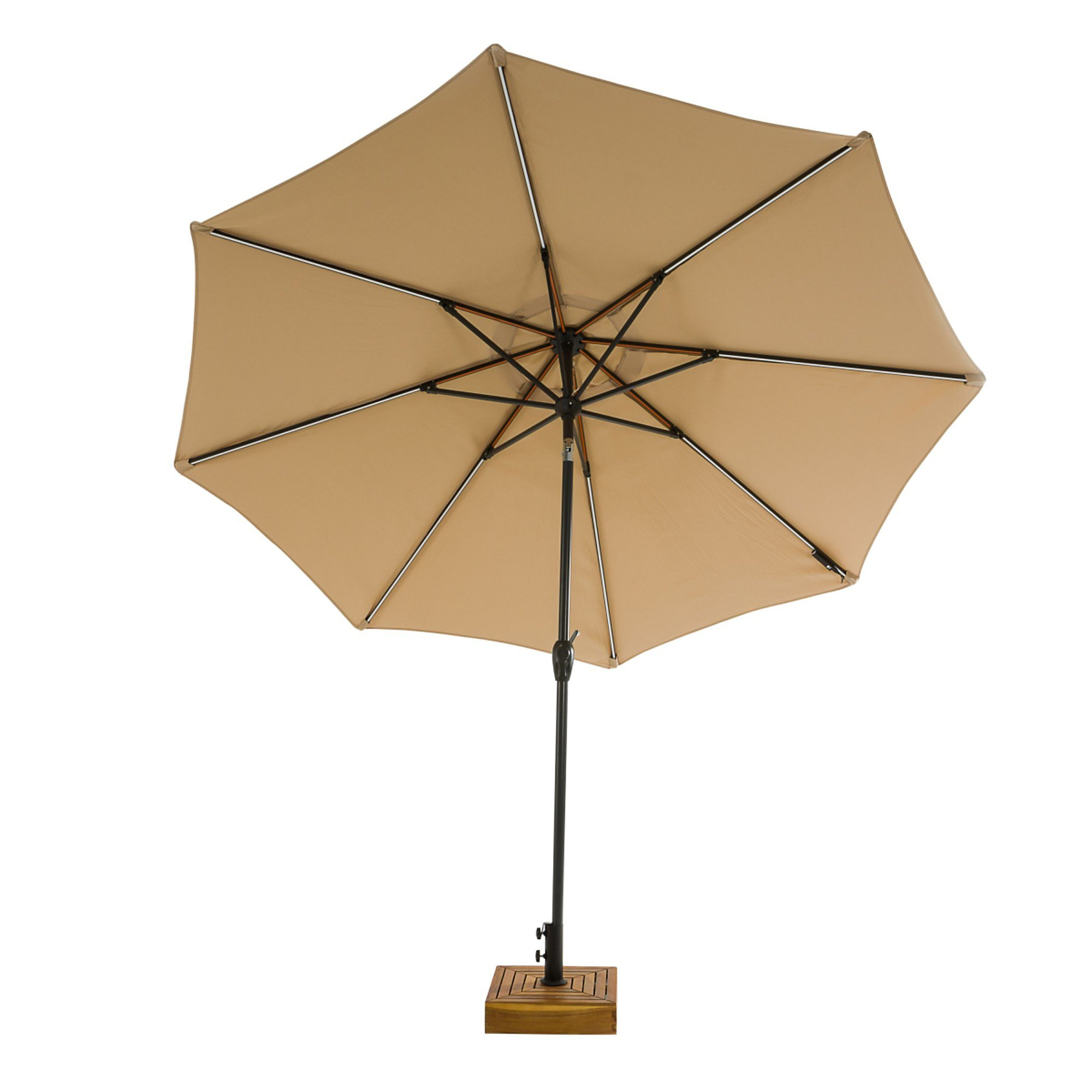 Sonnenschirm Mit Led Beleuchtung Beige Bestellen Weltbild De
