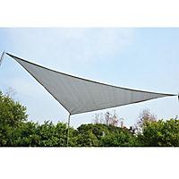 Sonnensegel als Dreieck (Farbe: grau) - Produktdetailbild 2