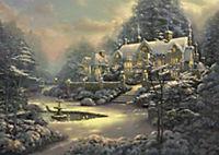 Sonnenuntergang in Riverbend / Winter in Riverbend (Puzzle) - Produktdetailbild 2