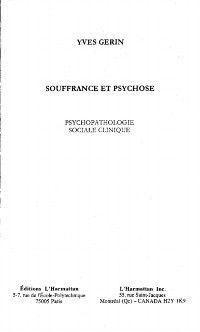 Souffrance et psychose, GERIN YVES