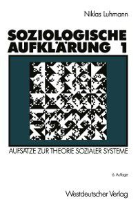 Soziologische Aufklarung 1, Niklas Luhmann