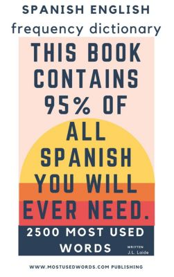 Spanish English Frequency Dictionary - Essential Vocabulary - Most Used 2500 Words & 468 Most Common Verbs, J.L. Laide