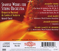 Spanish Works For String Orchestra - Produktdetailbild 1
