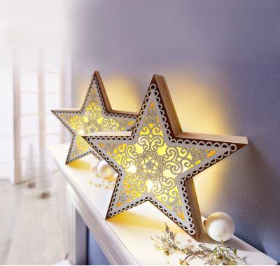 Sparset LED-Stern Stella, 2er
