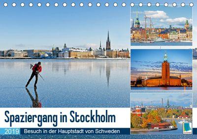 Spaziergang in Stockholm: Besuch in der Hauptstadt von Schweden (Tischkalender 2019 DIN A5 quer), CALVENDO