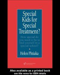Special Kids For Special Treatment, Department of Education, University of Cyprus, Cyprus. Helen Phtiaka Assistant Professor