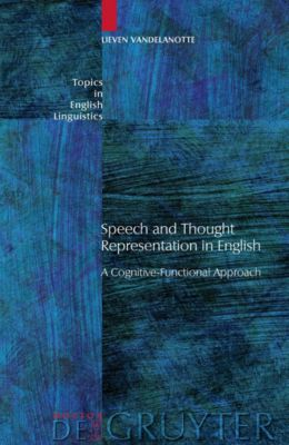 Speech and Thought Representation in English, Lieven Vandelanotte