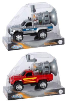 Speed Zone Einsatzfahrzeug mit Sirene, Friktion, 15 cm