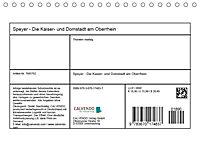 Speyer - Die Kaiser- und Domstadt am Oberrhein (Tischkalender 2019 DIN A5 quer) - Produktdetailbild 13